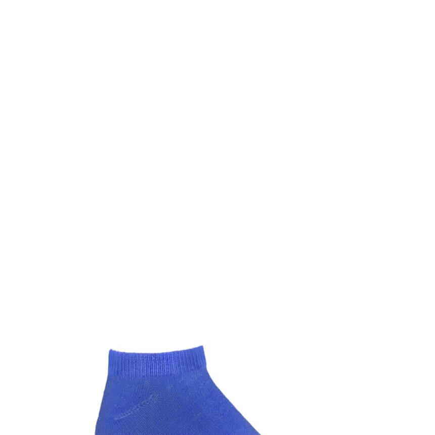 Boys and Girls 1 Pair SOCKSHOP Plain Bamboo No Show Socks with Smooth Toe Seams Denim 4-5.5 Kids (13-14 Years)